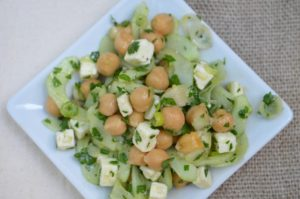 Cucumber, Chickpea, Feta and Parsley Chop Salad